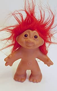 Red Haired 1986 Dam Troll Doll 5 Inches Tall