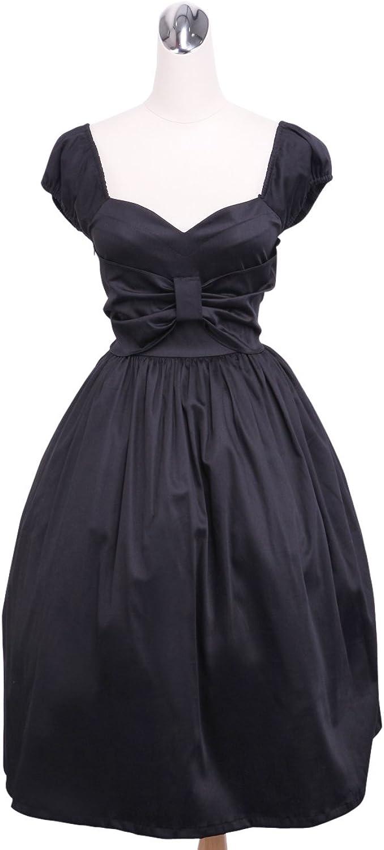 Antaina Black Cotton LowCut Sexy Vintage Gothic Lolita Cosplay Tube Dress