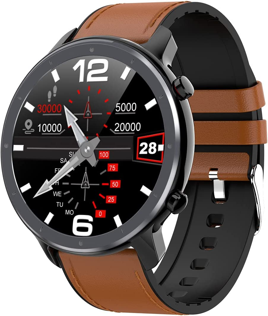 Lazzzgua 1.3 Inch Smart Time sale Watch IPS Circle with Screen T Full SEAL limited product