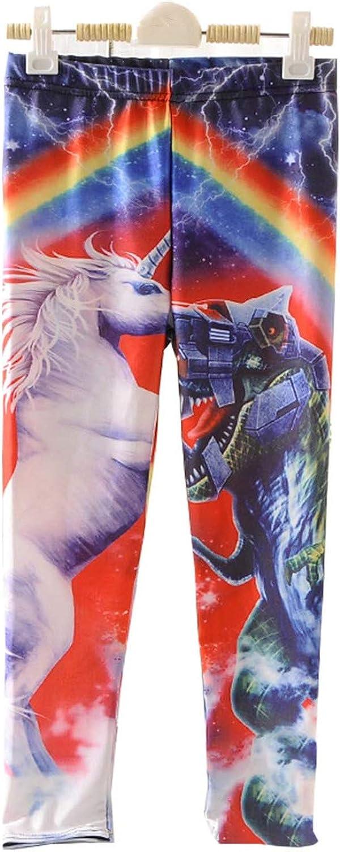 Swetye Girl Galaxy Print Children's Ankle Length Leggings Tights Trousers Slim Long Pants Plus Size