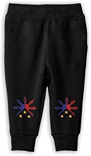 Girls Sweat Pant for Teen Boy WYZVK22 American Canada Heart Flag-1 Soft//Cozy Sweatpants