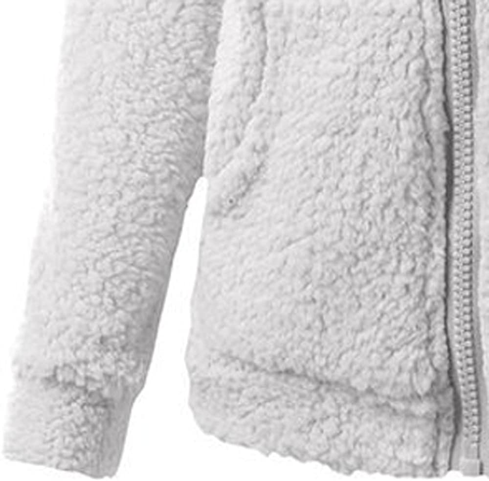 LeeY Herbst Winter Frauen Mode Plus Samte Warme Jacke Mantel Damen Mädchen Einfarbig Beiläufige Sport Reißverschluss Sweatshirt Hoodie Outwear Overmantel Hellgrau