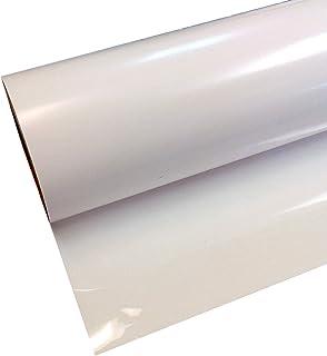 "ThermoFlex Plus 15"" Roll, Iron on Heat Transfer Vinyl, HTV (White, 5 Feet)"