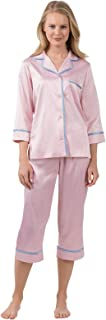 Women's Dreamy Satin Capri-Length Pajama Set, Pink