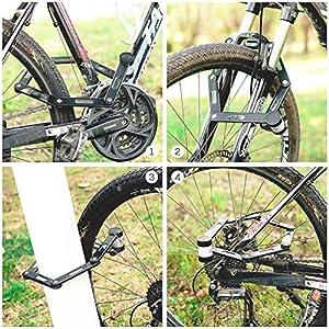 Ulikey Candado de Bicicleta Plegable, Candado Plegable con Soporte - 78 cm de Largo Cerradura de Bicicleta de 6 Articulaciones, Bicicleta Plegable para Bicicleta de Montaña/Bicicleta de Carretera