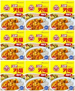 Ottogi 3 Minute Curry Spicy Flavor, Product of Korea 6.7 Oz Each: 9 Packs