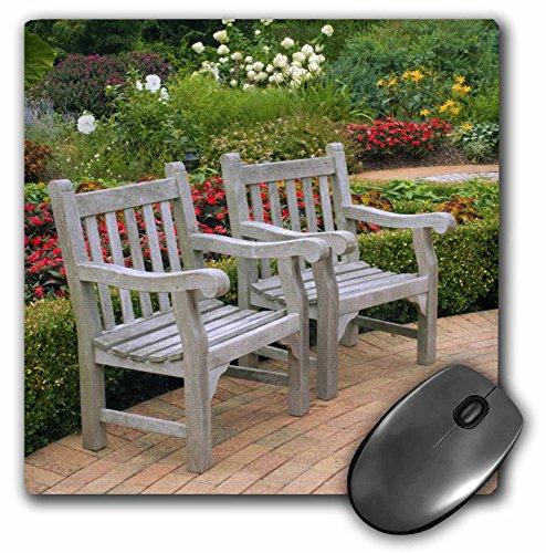 3drose 20,3 x 20,3 x 0,6 cm muispad, lege houten stoelen A Garden Weg Raymond Klass (MP 83512 1)