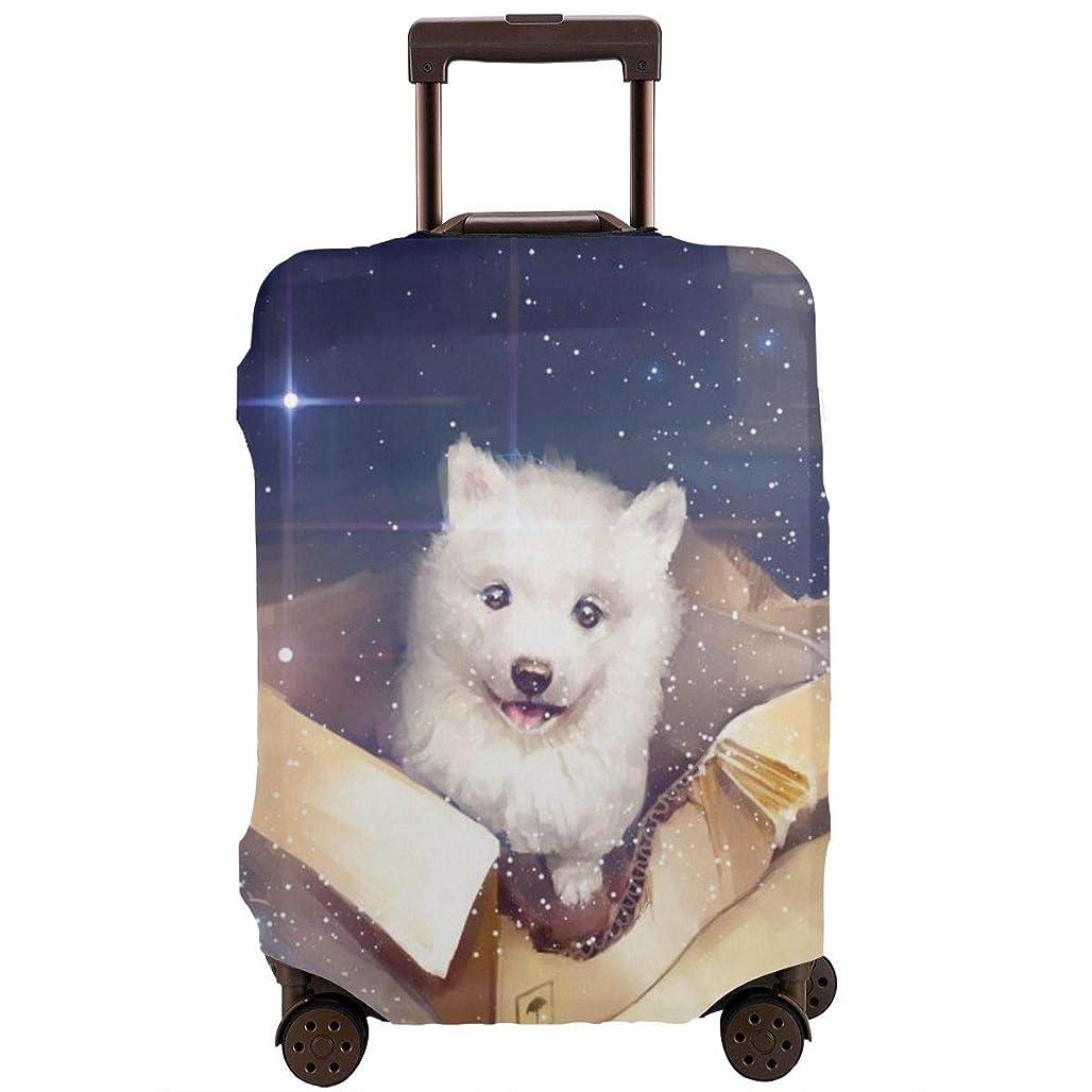 遺体安置所胆嚢移住する犬の絵画アートボックス スーツケースカバー バッグ保護カバー 荷物カバー 伸縮素材 出張旅行便利 丈夫 盗難防止 防塵カバー(4サイズ)