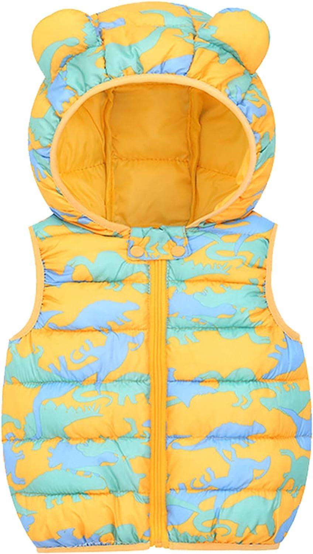 Rare Baby Sleeveless Down Zip Finally popular brand Up Coats Kids Hoods with Girls Boys for