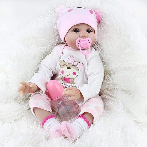 promociones ZIYIUI Reborn Doll Doll Doll 22  55 cm Hechos a Mano Hechos a Mano bebé recién Nacido muñeca renace muñeca Suave Silicona Vinilo muñeca, Hermoso Regalo de los Niños  edición limitada en caliente