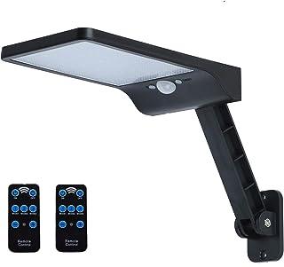 1000lm 56leds 4500mah Anti-Heat Solar Flood Lights Outdoor Motion Sensor with Remote Control 3 Lighting Modes Wall Light D...