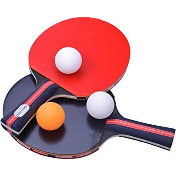 2X Inverted Rubber Sponge For Table Tennis Racket Ping Pong*Paddle Red//Black KW
