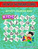 The Days Of The Dinosaur Coloring: Coloring For Grown Ups 50 Image Quiz Words Activity Coloring Book Footprints, Tyrannosaurus, Styracosaurus, Allosaurus, Footprints, Fossil, Herrerasaurus, Excavation