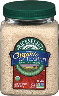 Sponsored Ad - RiceSelect Organic Texmati White Rice, Long Grain, Gluten-Free, Non-GMO, 32 oz (Pack of 4 Jars)