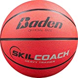 Baden SkilCoach Heavy Trainer Rubber Basketball, Yellow, 29.5-Inch