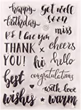 Best Wishes Happy Birthday Cheers Greeting Words Phrase Cards Rubber Clear Stamp for Card Making Clear Stamp