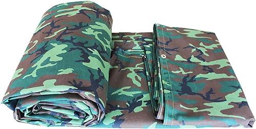 WDXJ Camouflage Feuille de bache épaisse imperméable à l'eau de Plein air imperméable à l'eau de Couverture de Feuille de bache de Prougeection terrestre armée Verte Camo, 550G   M2 (Taille   4  8m)