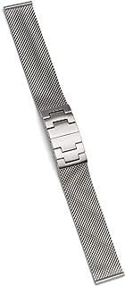 Cinturino per orologio in acciaio inox spazzolato opaco, attacco da 18 mm.