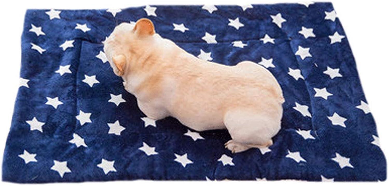 Dog mat cat Kennel mat pet Cotton pad Blanket Blanket Quilt bite Resistant Winter Four Seasons Supplies (color   E, Size   XL)