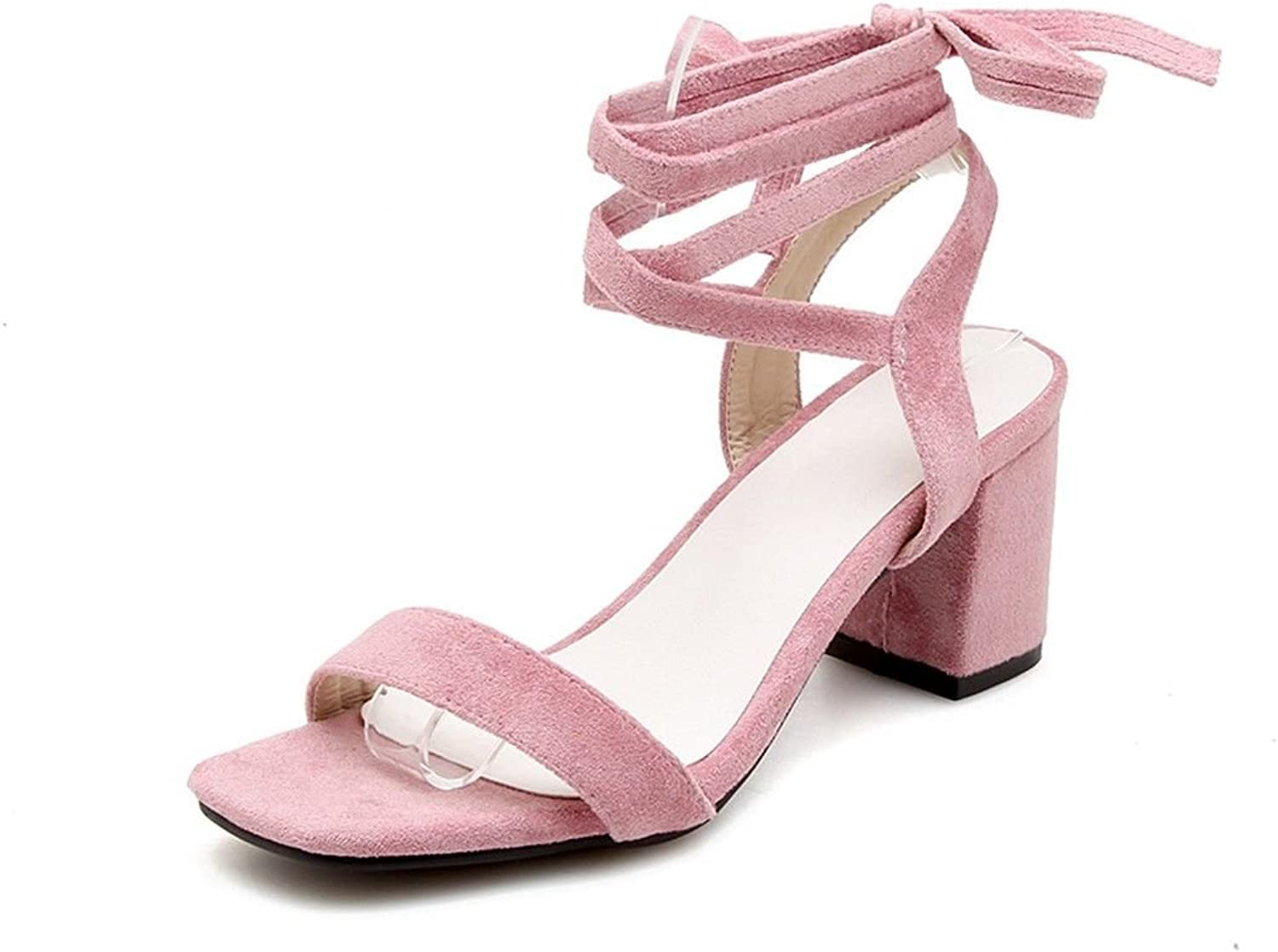 With The Summer Coarse Matte Dew-Toe Ankle Strap Sandals Women