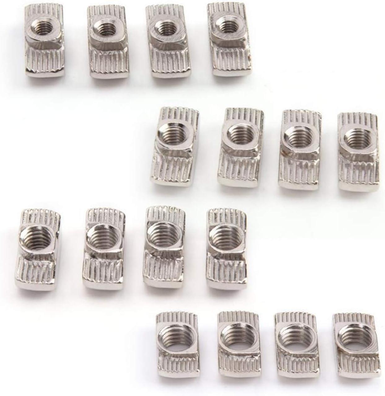 DUO ER 100Pcs M4 M5 M6 M8 T-Slot Sliding Carbon Steel Max 89% OFF T Nut Fashionable