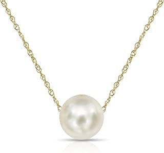 floating pearl necklace gold chain