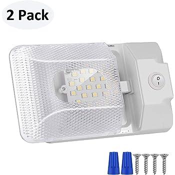 1 Pack ShinePick 12V Lampade LED Luci led da Interni Auto Plafoniera Tetttuccio Illuminazione Interna Auto Luce con Interruttore per Auto//RV//Camper//Camion//Rimorchio//Van//Barca