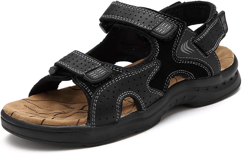 LXJL Men's comfortable Outdoor Walker Sandals,Black,43
