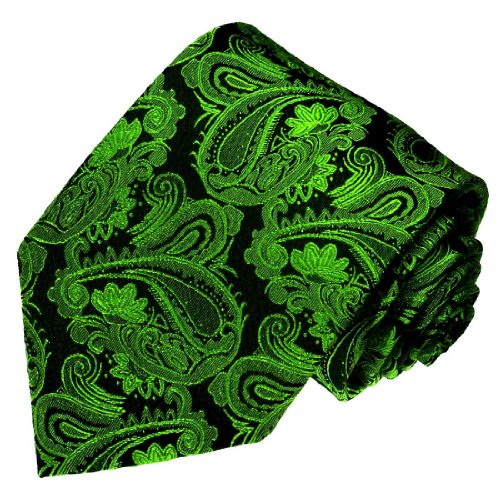 Lorenzo Cana - grün schwarze Paisley Krawatte aus 100{b4d20a66c3bbf4f1dfbf54447cb0e016412ef7b34e0e1c4be5eaf17cab79fc24} Seide - Marken Seidenkrawatte Schlips Binder - 77145