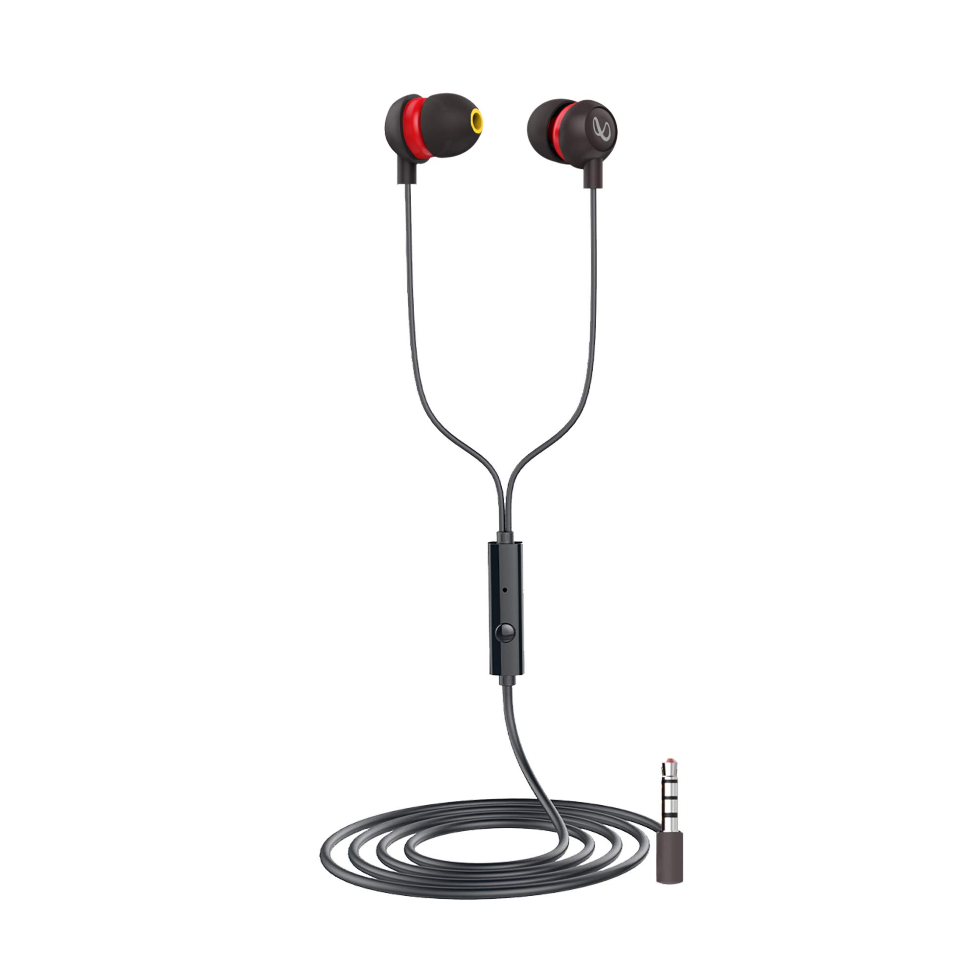 Infinity (JBL) Zip 20 In-Ear Deep Base Headphone Mic with Black and Red
