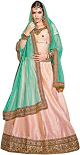 Ready to Wear Baby Pink Indian Designer Collection Embroidered Work Indian Bollywood Designer Lehenga Choli Ethnic Look Women B5