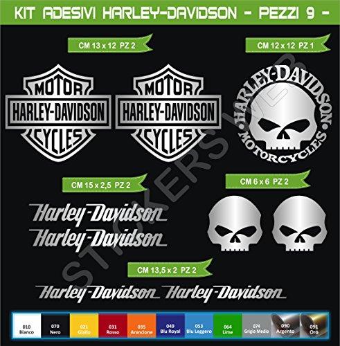 Adesivi Stickers Harley-Davidson Moto Motorbike cod.0636 (Argento cod. 090)