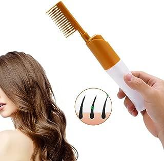 Hair Dye Bottle Comb Salon Applicator for Hair Coloring, Highlighting, Balayage, Microbraiding & More Yellow