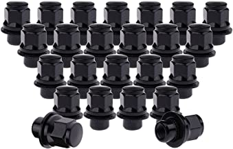SCITOO 24PCS Black Lug Nuts for 13/16
