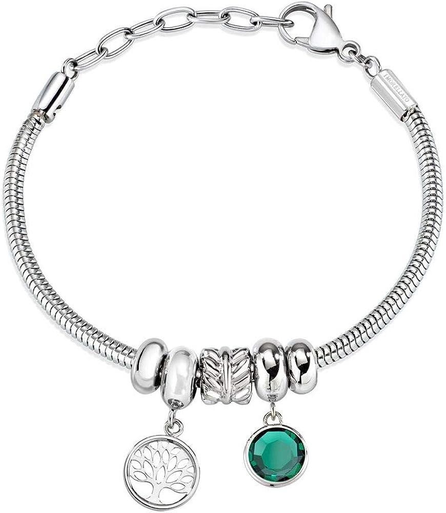 Morellato, bracciale con charm,per donna,in acciaio_inossidabile SCZ929