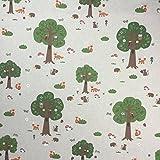 Wald Tiere Baumwolle Rich Leinen Look Stoff für Vorhänge