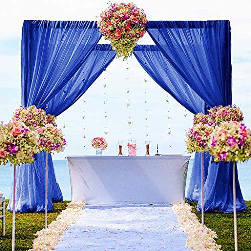 "Chiffon Backdrop Curtain 5FTx10FT Royal Blue Chiffon Fabric Drapes for Wedding Ceremony Chiffon Voile Curtains 2 Panels 29""x120"" Photography Backdrop Drapes (29''x120''x2pcs, Royal Blue)"