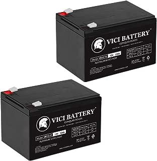 VICI Battery 12V 12AH F2 Battery for Feber 12v Ferrari California - 2 Pack Brand Product