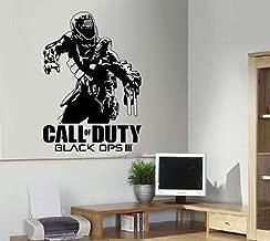 kjyab Wall Stickers Murals Call of Duty Warrior Image Sticker Vinyl Wall Decal Sticker