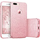 ESR Coque pour iPhone 7 Plus, Coque Silicone Paillette Strass Brillante Glitter de Luxe, Bumper Housse Etui de Protection [Anti Choc] pour Apple iPhone 7 Plus (Or Rose Pailleté)