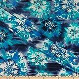 TELIO 0727301 London Stretch Mesh Tie Dye Print Royal Mint