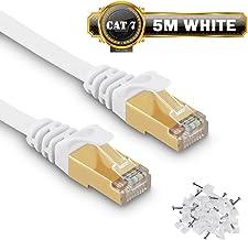 Câble Ethernet 5M Cat7 Câble réseau Plat Haut Débit Blindé RJ45 10Gbps 750MHz SFTP 8P8C Câbles de Connexion Patch pour Rou...