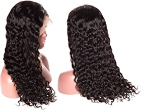 Younsolo Brazilian Water Wave Lace Front Wigs with Baby Hair for Black Women 130% Density Virgin Remy Human Hair Lace Front Wigs 20 inch