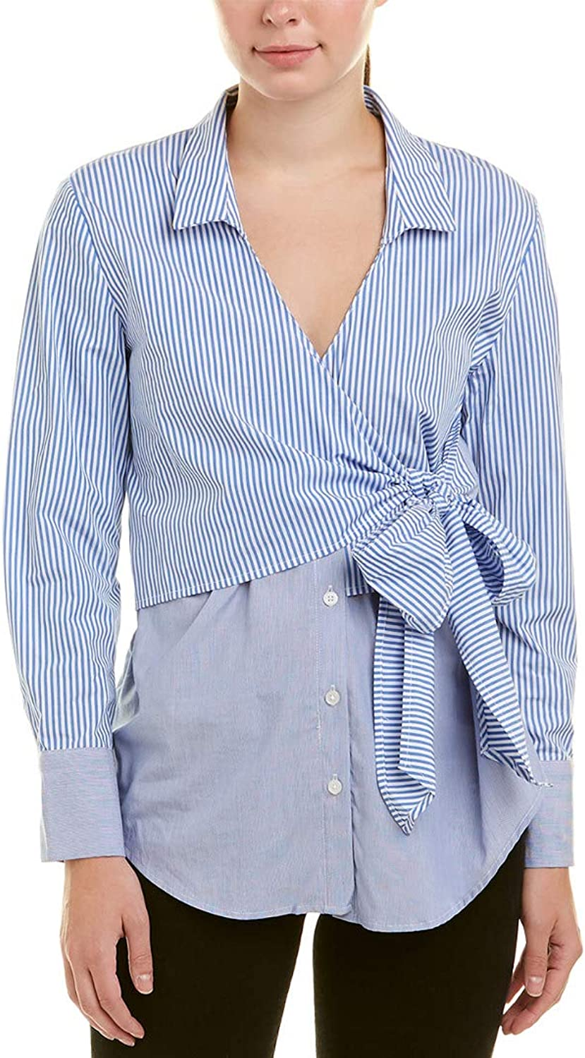 Bardot Womens Wrap Tie Shirt Dress Shirt