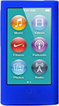 ColorYourLife iPod Nano Silicone Cases Skins Covers for New iPod Nano 8th Generation 7th Generation with 1 Screen Protector and Cleaning Wipe (Blue)