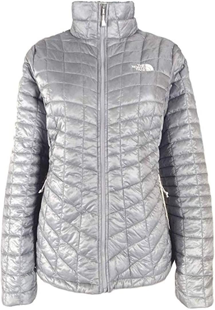 The North Face Thermoball Womens Full Zip Insulated Jacket (Small, Tradewinds Grey)