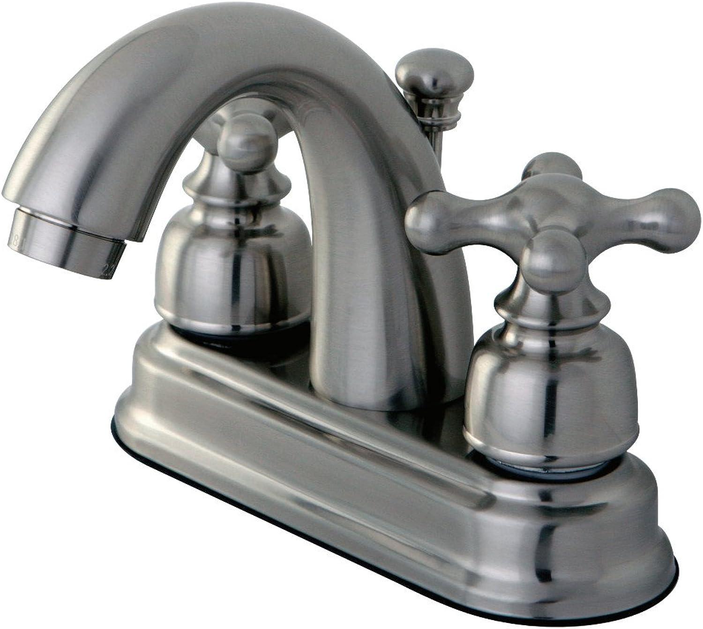 Kingston Brass KB5618AX Restoration 4-Inch Centerset Lavatory Faucet, Satin Nickel