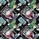 Star Wars Mandalorianische Etiketten, 100 % Baumwolle, 0,5