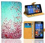 FoneExpert® Microsoft Lumia 535 Handy Tasche, Wallet Case Flip Cover Hüllen Etui Ledertasche Lederhülle Premium Schutzhülle für Microsoft Lumia 535 (Pattern 3)