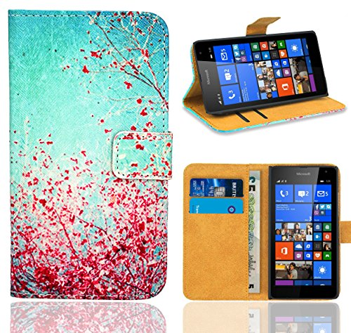 Microsoft Lumia 535 Handy Tasche, FoneExpert® Wallet Hülle Flip Cover Hüllen Etui Ledertasche Lederhülle Premium Schutzhülle für Microsoft Lumia 535 (Pattern 3)